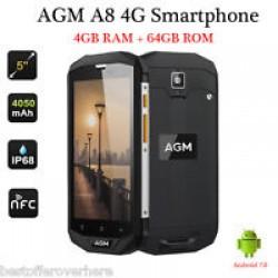 AGM A8, 4GB RAM 64GB ROM УДАРОУСТОЙЧИВ ВОДОУСТОЙЧИВ ГОРИЛА 4 ТЪЧ,МОЩНА БАТЕРИЯ 4030MAH